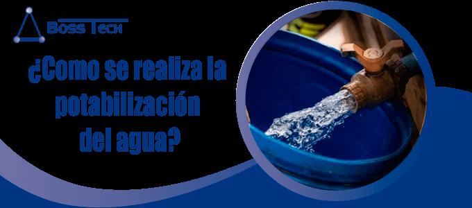 ¿Como se realiza la potabilización del agua?