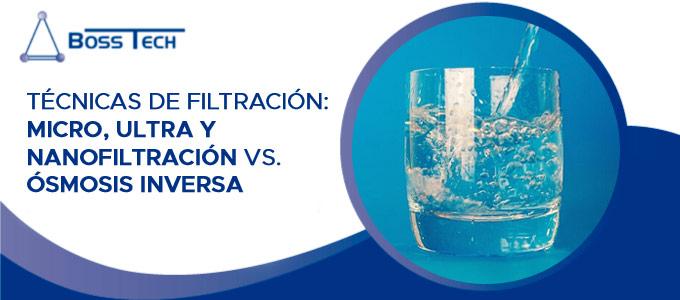 Técnicas De Filtración: Micro, Ultra Y Nanofiltración Vs. ósmosis Inversa