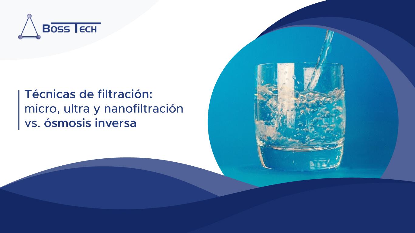 Tecnicas Filtración Micro Ultra Nanofiltración Vs Osmosis Inversa